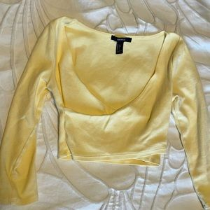 FOREVER 21 Cropped Wrap Top
